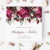 Zaproszenie Ślubne w odcieniach bordo i różu