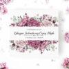 Zaproszenie ślubne w odcieniach fioletu