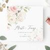 Zaproszenie ślubne kremowe kwiaty