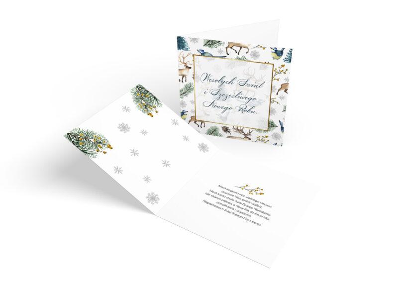 Kartki Świąteczne niebieskie