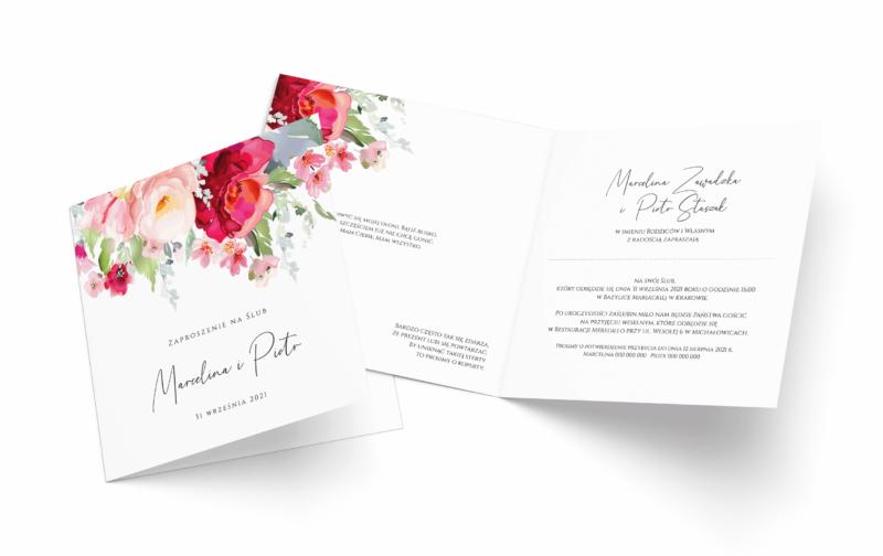 Zaproszenia Ślubne składane