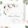 Zaproszenie Ślubne z motywem białych kwiatów