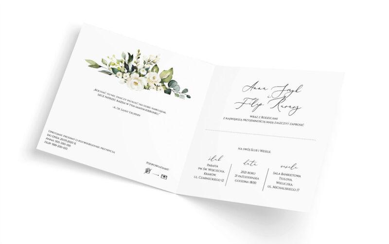 Zaproszenie ślubne Amelie - środek