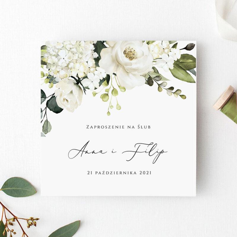 Zaproszenie Ślubne w odcieniach zieleni