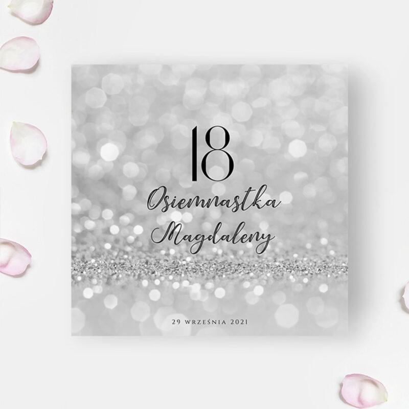 Zaproszenie na osiemnastkę - glamour