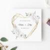 Zaproszenie Ślubne - białe kwiaty