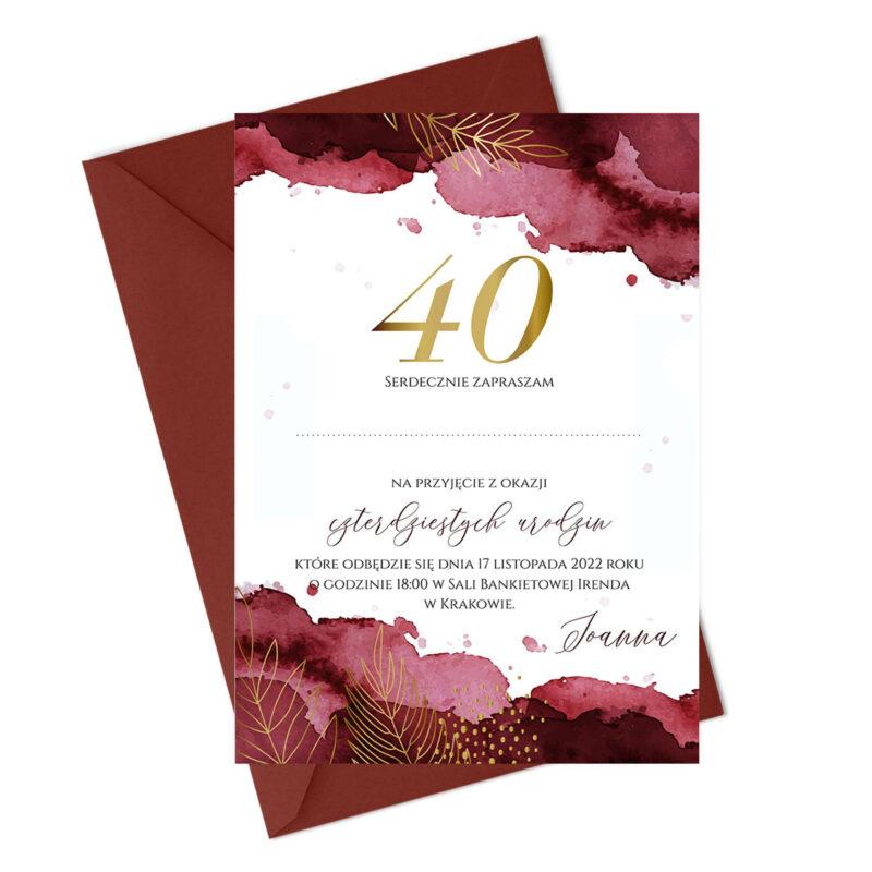 Zaproszenie na 40