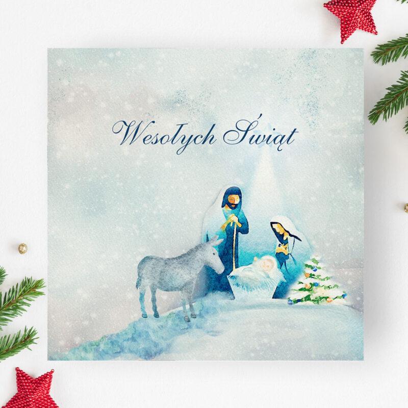 Kartki świąteczne z logo