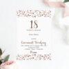 Zaproszenie na osiemnaste urodziny w kropeczki