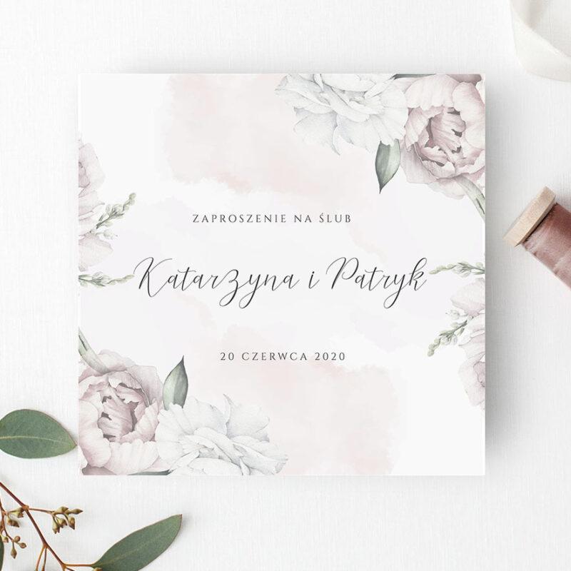 Zaproszenie Ślubne w odcieniach rożu