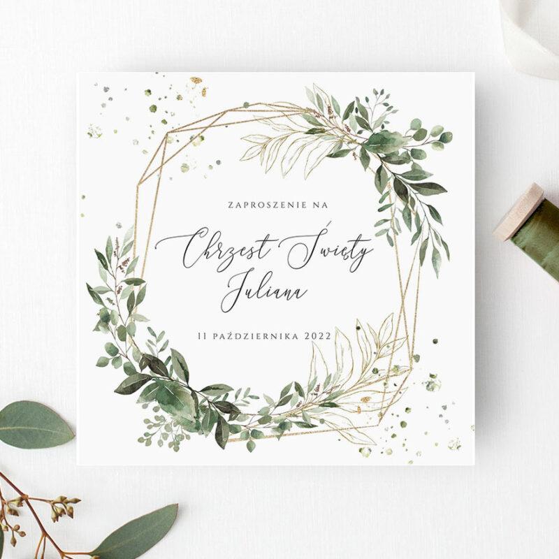 Zaproszenie Geometryczne na Chrzest Święty
