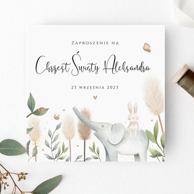 Zaproszenie na Chrzest Święty dla Chłopca - kolekcja 2021