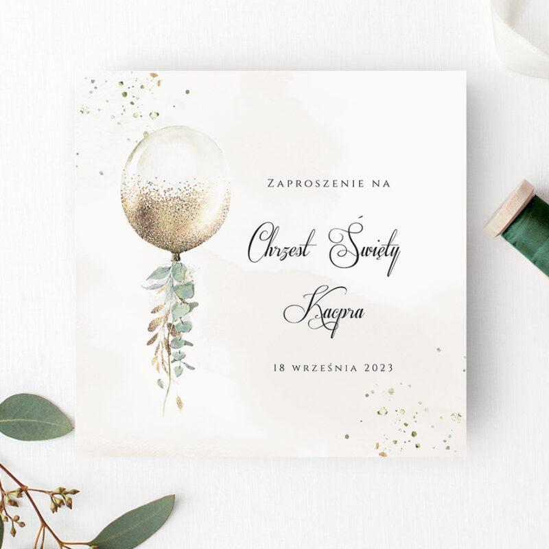 Zaproszenie na Chrzest Święty w odcieniach beżu