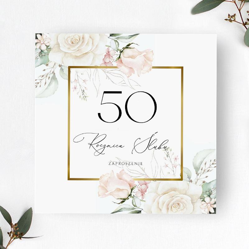 Zaproszenie na 50 rocznice slubu