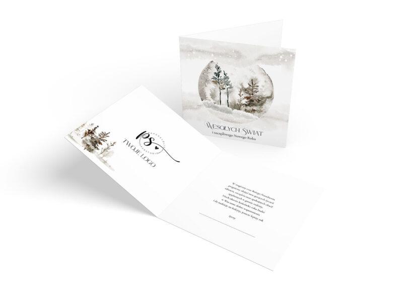 Kartki świąteczne szara
